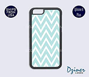 iPhone 6 Plus Case - Tiffany Blue Chevron iPhone Cover