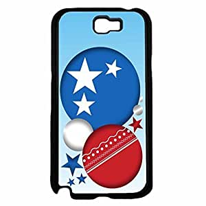 American Red White and Blue Abstract Circle Stars TPU RUBBER SILICONE Phone Case Back Cover Samsung Galaxy Note II 2 N7100