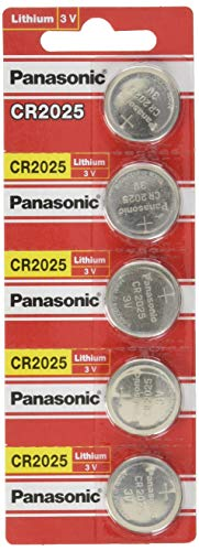 - Panasonic CR2025-5 CR2025 3V Lithium Coin Battery (Pack of 5)