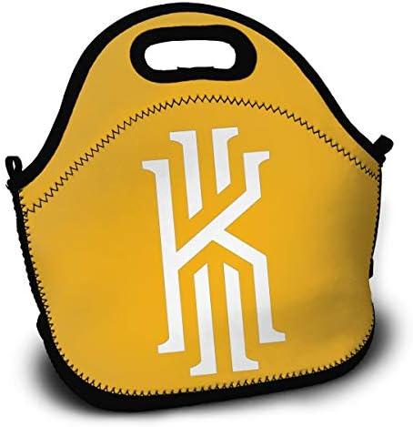 カイリー アービング ロゴ1 大容量 多機能 ポータブル ランチバッグ 弁当袋 保冷 保温 防水 アウトドア 通勤 旅行 収納 おしゃれ 弁当袋 男女兼用