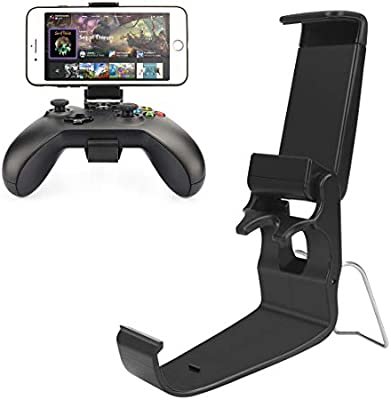Moulis Xbox One Controller Holder, Xbox Phone Mount, Foldable Controller Mobile Phone Holder/Smartphone Cellphone Clamp/Clip for Xbox One/S/X/SteelSeries Nimbus/Stratus XL/Steam Controllers: Amazon.es: Electrónica