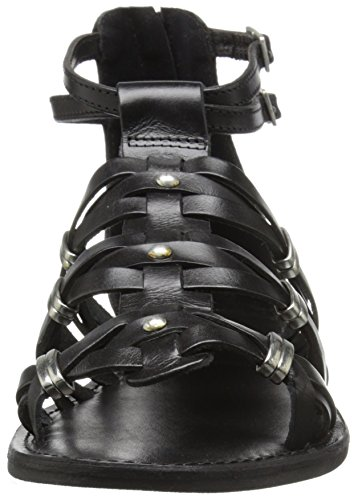 Donna Black Roman Molto Sandalo Volatili Gladiator AxtnvqzS