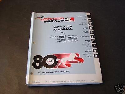 - 1980 JOHNSON OUTBOARD MOTOR V-6 SERVICE MANUAL