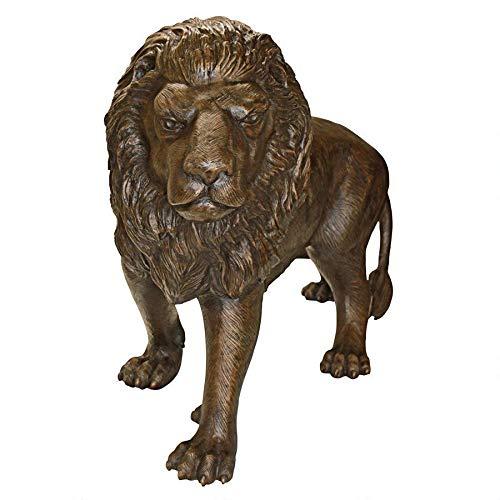 Design Toscano Guardian Lion Cast Bronze Garden Statue: Left Foot Forward