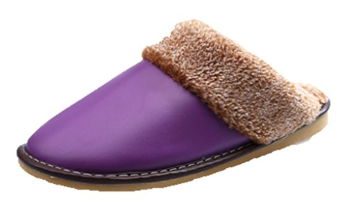 Cattior Womens Fleece Lined Soft Warm Leather Slippers Ho...
