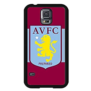 Samsung Galaxy S5 Case,Aston Villa Football Club Logo Protective Phone Case Black Hard Plastic Case Cover For Samsung Galaxy S5