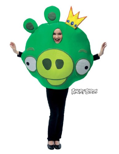 Pig From Angry Birds Costume (Angry Birds King Pig Green Costume)