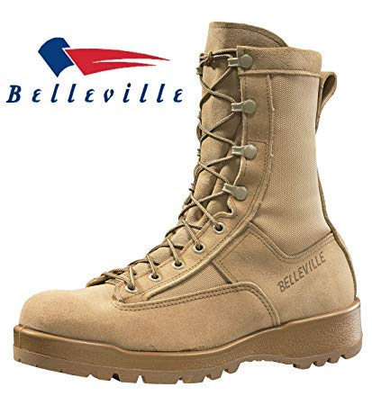 Belleville 790G Men's GI Desert Military Army Waterproof Goretex Temperate Flight Military Combat Boots TAN-Size 9.5R &10R Made in USA (10-Regular)
