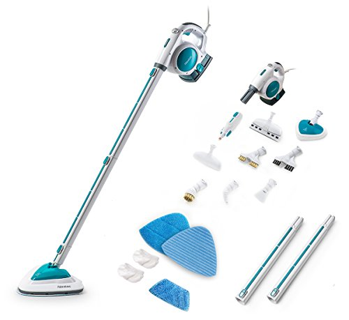 Neatec Steam Mop USM18B Upright and Handheld Steam Cleaner (Blue)