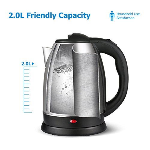 Electric Tea Kettles With Automatic Shut Off ~ Electric kettle stainless steel cordless with fast boil