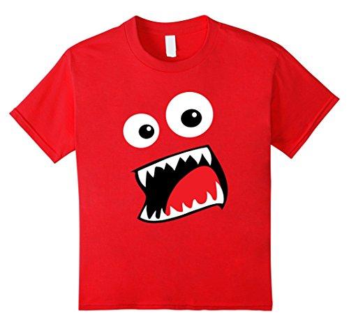 Kids Monster Halloween Costume Shirt Funny Matching Couple Group 6 Red (Funny Halloween Costumes For 2 Best Friends)