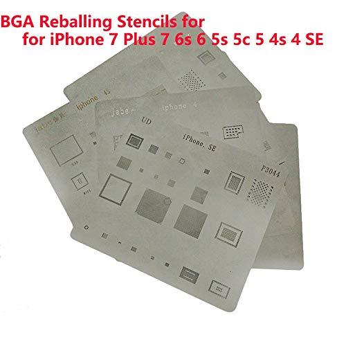 (QUAROS 1Pcs IC Chip BGA Reballing Stencil Kits Set Solder template for iPhone Compatible 4-7P Main Board CPU Repair Tool - (Color: iPhone 6))