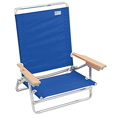 Rio Beach 5 Position Classic Lay Flat Beach Chair, Pacific Blue