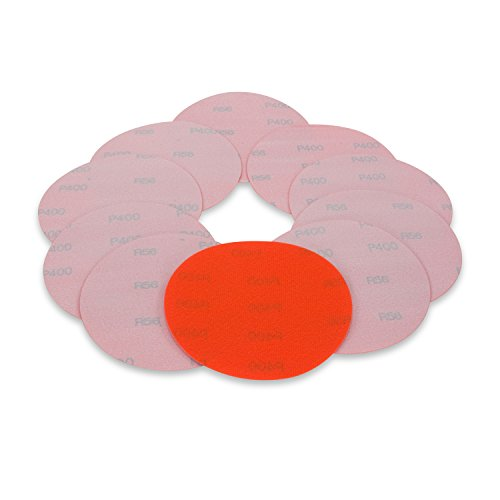 6 Inch 400 Grit High Performance Hook and Loop Wet / Dry Auto Body Film Sanding Discs, 10 Pack (400 Sandpaper Disc Grit)