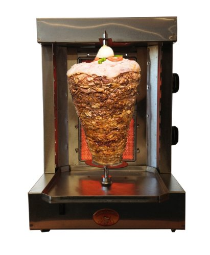 (Shawarma Vertical Broiler by Spinning Grillers- 5 in 1 Rotisserie Backyard Grill- Propane Gas- Meat Capacity 15lbs -Non-Commercial)