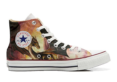 Converse All Star chaussures coutume mixte adulte (produit artisanal) dragon