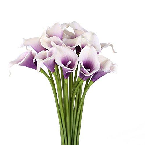 Purple lillies artificial flowers