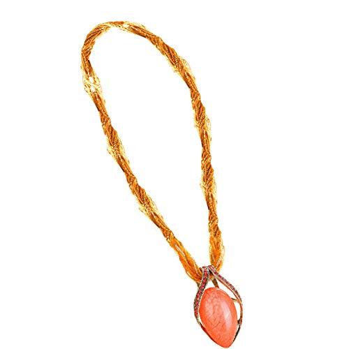 kitt 2019 Bohemian Jewelry Necklaces Women Natural Gemstone Teardrop Pendant Necklaces Tribal Dangle Bead Rhinestone Gem Pendant Collar