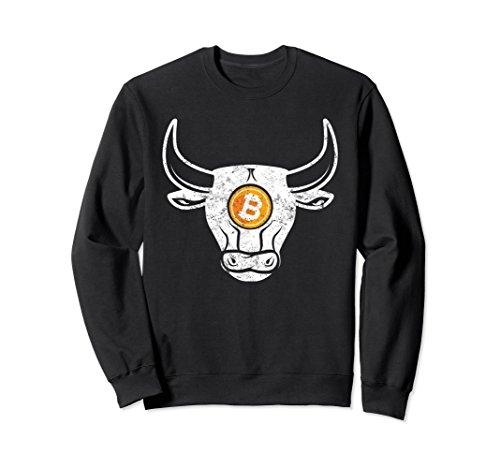 Black Market Vintage (Unisex Bitcoin Bull Market Vintage Crypto Apparel Sweat Shirt Medium Black)
