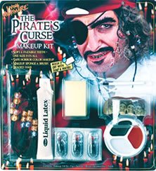 Fun World Women's Pirate Horror Character Kit, Multi, Standard -