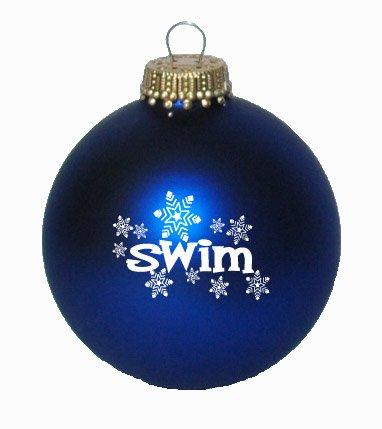 Swim Snowflakes Christmas Ornament (Royal Velvet Blue)