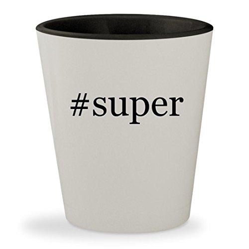 Price comparison product image #super - Hashtag White Outer & Black Inner Ceramic 1.5oz Shot Glass