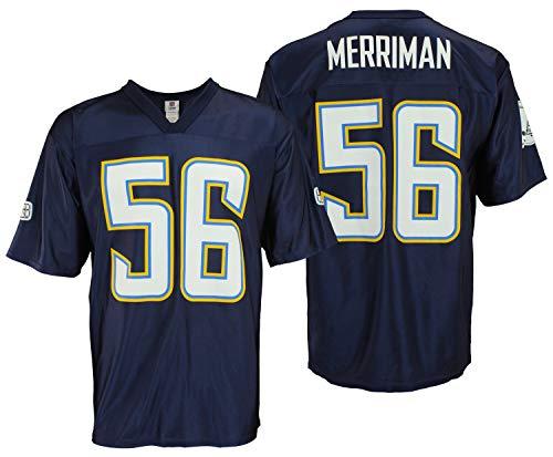 (Reebok San Diego Chargers Shawne Merriman #56 NFL Mens Dazzle Jersey, Navy (Medium))