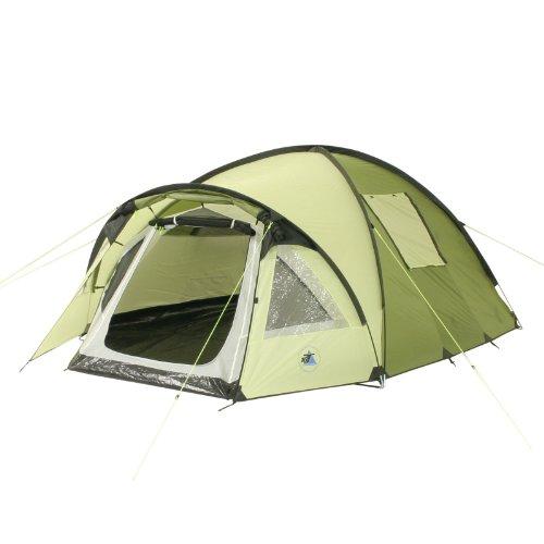 10T Glenhill 3 - 3-Personen Kuppel-Zelt mit Tunnel-Apsis Innenkabine 2-Eingänge Fenster WS=5000mm