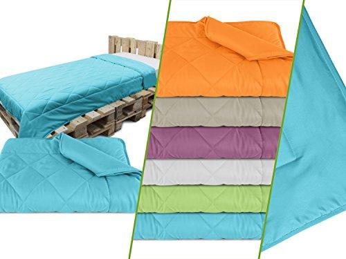 Leichtsteppbett aus samtweichem Mikrofasergewebe - Maße ca. 135 cm x 200 cm - vielseitig verwendbar - erhältlich in 6 modernen Farben - geprüfte nach Öko-Tex Standard 100, aqua