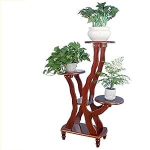TYCGY Solid Wood Multi-floor Balcony Living Room Indoor Flower Racks ( Size : 1065128cm )