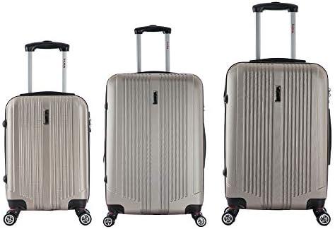 inUSA San Francisco Luggage 3-Piece Lightweight Hardside Spinner Luggage Set