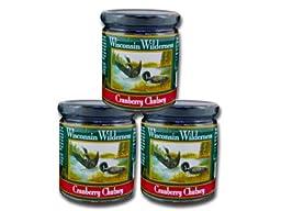 Wisconsin Wilderness Cranberry Chutney - Three 10 oz. Jars