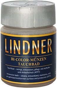 Liquido limpieza para monedas - bicolor (Lindner 8097) + 1 moneda gratis