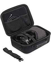 Oculus Quest Case JSVER Carrying Case for Oculus Quest VR Gaming Headset and Controllers Accessories Portable Hard Shell Protective Storage Case Oculus Quest Travel Case with Shoulder Strap (Black)