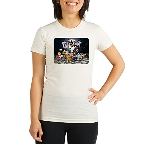 Royal Lion Organic Womens Fitted T-Shirt Halloween Trick