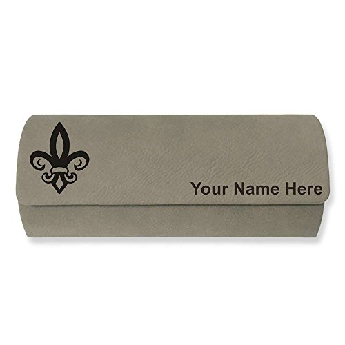 Eyeglass Case - Fleur de Lis - Personalized Engraving Included (Light - New Eyeglasses Orleans