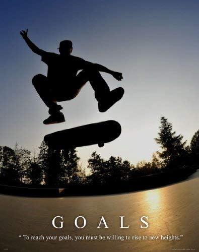 Skateboarding Motivational Poster Art Print Wall Decor Skateboard Gifts MVP266