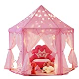 Intency Pink Princess Castle Kids Play Tent Large Children Playhouse for Girls Indoor Outdoor Use