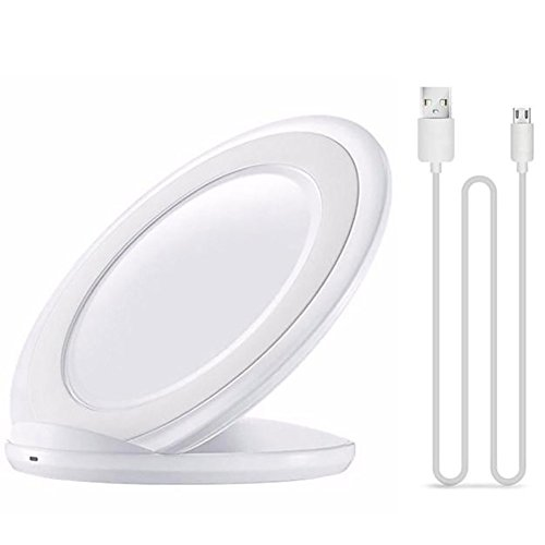 Morrivoe 3-Coils Fast Charger Qi Wireless Charging Stand Charge Dock for Samsung Galaxy S7/S7 Edge (White)