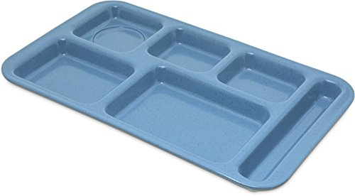 Carlisle 4398392 Melamine Right-Hand 6-Compartment Divided Tray, 15'' X 9'', Sandshade (Case of 12) by Carlisle