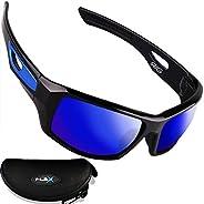 FLEX RIG – Polarized Sunglasses for Men, Tough & Lightweight TR90 Frame, Sports Sunglasses for Biking Driv