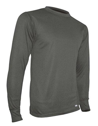 Polarmax Double Base Layer Crew Shirt, Artic Grey, Small