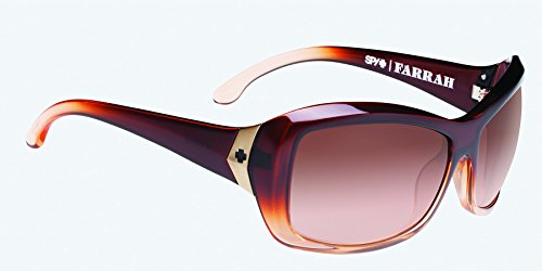 Spy Optics Women's Farrah Peach Blossom Wrap Sunglasses,Peach,54 mm