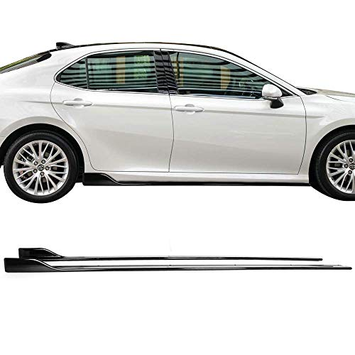 - Side Skirts Fits 2018-2019 Toyota Camry | PP Carbon Fiber Look Side Extensions Line Protector LH RH Left Right By IKON MOTORSPORTS