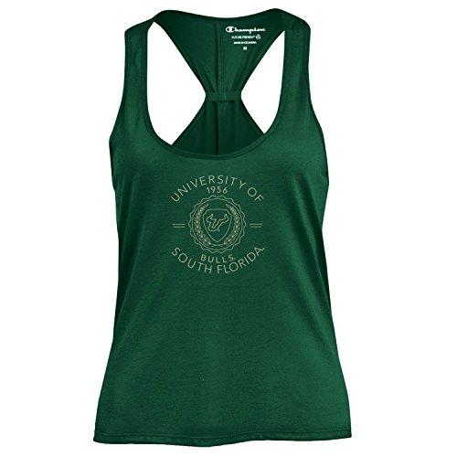 (Champion NCAA Women's Swing Silouette Racer Back Tank Top, South Florida Bulls, Small)