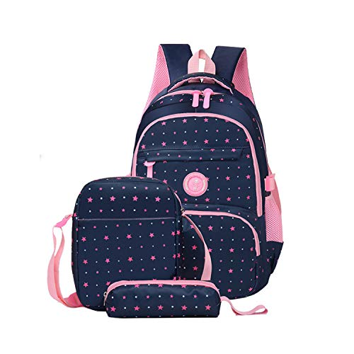 3pcs//Set Women Backpacks Flower Printing Girl School Bags Bookbag Travel Bagpack