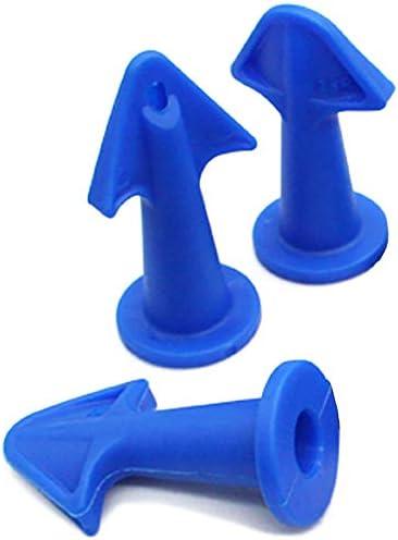 Casinlog Juego de 3 boquillas de goma selladoras para calafateo