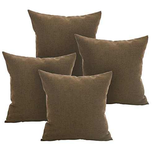 Deconovo Faux Linen Throw Pillow Covers Pillow Case Cushion Cover With Invisible Zipper for ...