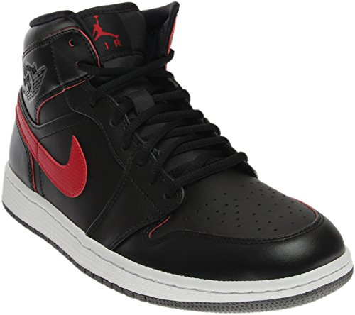 Jordan Nike Men's Air Mid Black/Team Red/Team Red/White Basketball Shoe 10.5 Men US by Jordan