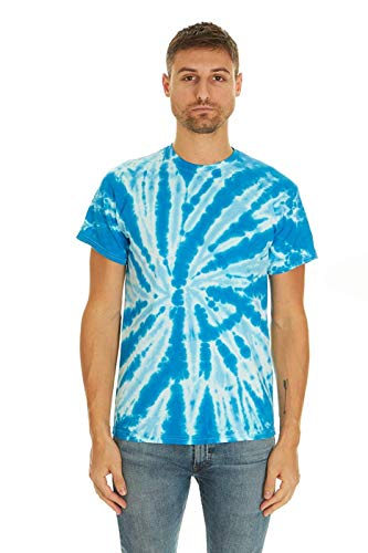 Ready Youth T-shirt - Krazy Tees Tie Dye T-Shirt, Twist Royal, XX-Large